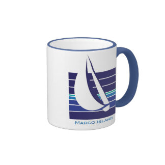 Boat Blues Square_Marco Island mug