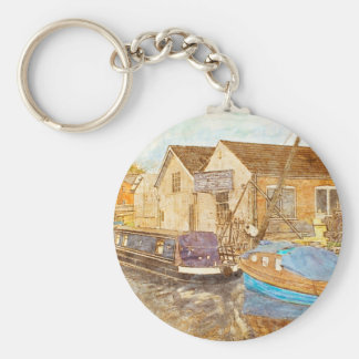 Boat Builders Basic Round Button Key Ring