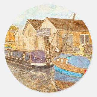 Boat Builders Round Sticker