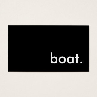 boat. business card