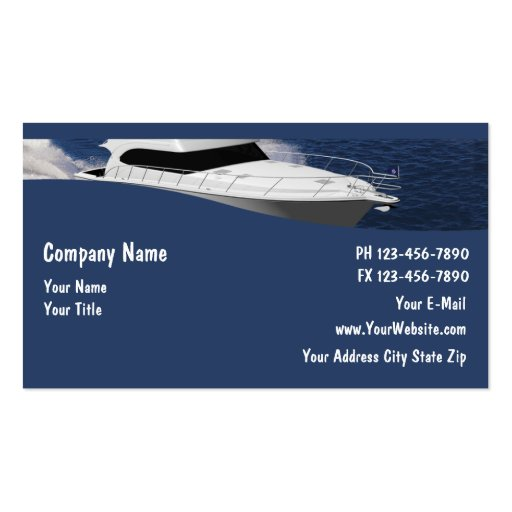 Boat Business Cards