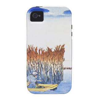 Boat by the Reeds Japanese Woodblock Art Ukiyo-E Case-Mate iPhone 4 Cover