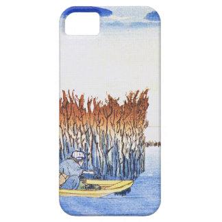 Boat by the Reeds Japanese Woodblock Art Ukiyo-E iPhone 5 Case