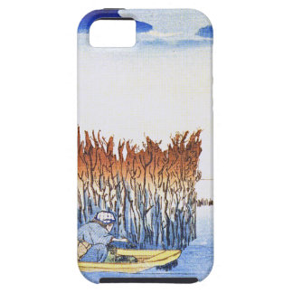 Boat by the Reeds Japanese Woodblock Art Ukiyo-E iPhone 5 Covers