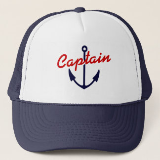 Boat captain hat | Navy blue nautical anchor away