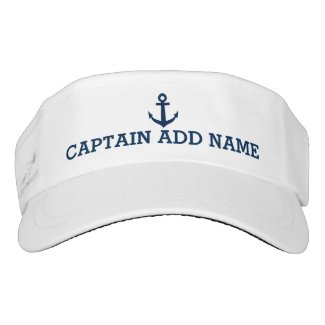 Nautical Anchor Visor Cap