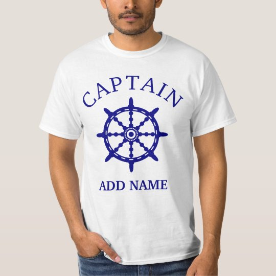 Boat Captain (Personalise Captain's Name) Light T-Shirt