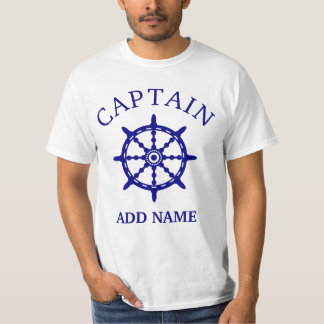 Boat Captain (Personalize Captain's Name) Light T-Shirt