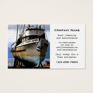 Boat Cleaning Maintenance Business Card