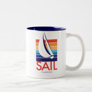 Boat Color Square_SAIL Florida Coffee Mugs