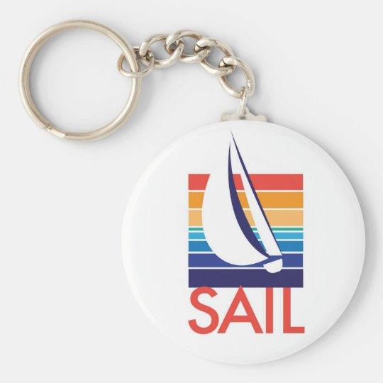 Boat Colour Square_Sail keychain