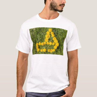 boat designed with dandelion on the lawn T-Shirt