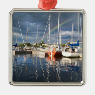 Boat Dock at Marina Photograph Christmas Ornament