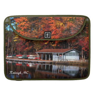 Boat Dock in Autumn MacBook Pro Sleeve