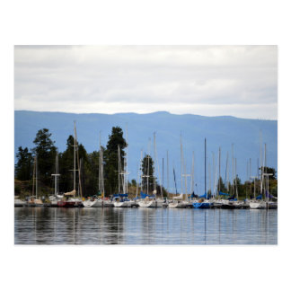 Boat Dock on Flathead Lake Postcard
