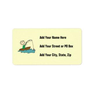Boat Fishing Address Label