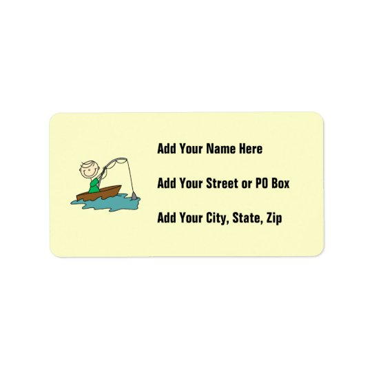 Boat Fishing Address Label