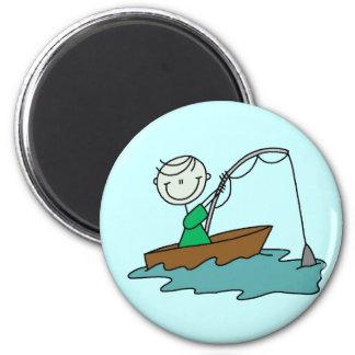 Boat Fishing Fridge Magnet