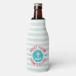 """Boat Hair Don't Care"" (Personalized) Bottle Cooler"