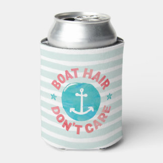 """Boat Hair Don't Care"" (Personalized) Can Cooler"