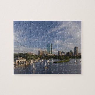 Boat house in the Charles River in The Esplanade Jigsaw Puzzle