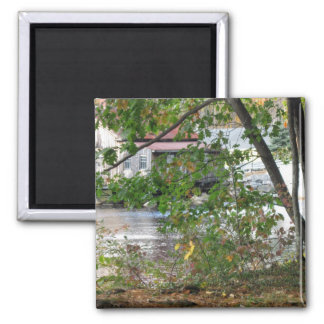 Boat House Square Magnet