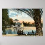 Boat House, Westlake Park Los Angeles 1914 Vintage