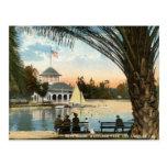 Boat House, Westlake Park Los Angeles 1914 Vintage Postcard