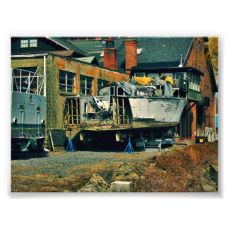 Boat in Dry Dock Photo Print