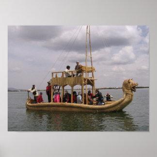 Boat in Peru Poster