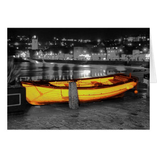 BOAT IN ST. IVES GREETING CARD