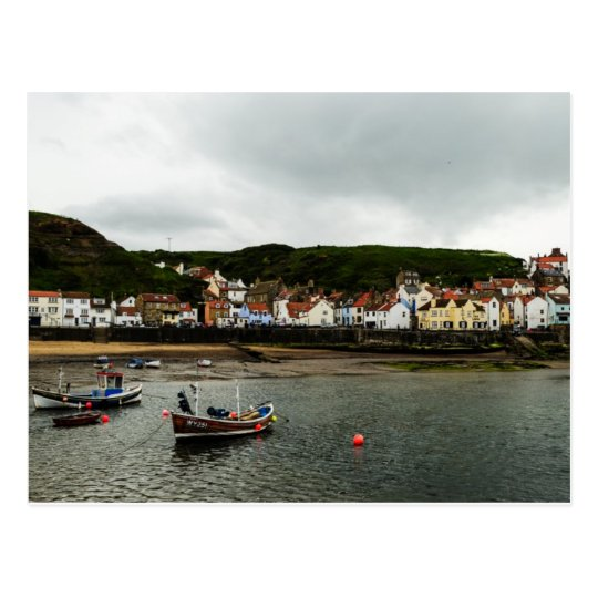 Boat in Staithes Postcard