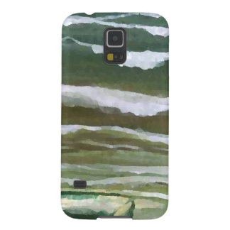 Boat in the Edge of the Sea Ocean Waves Art Galaxy S5 Cover