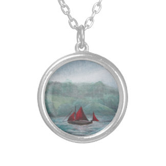 Boat in the Rain Personalized Necklace