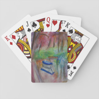Boat Lake Watercolor Art Classic Playing Cards