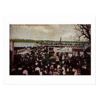 Boat Landing Reeds Lake Grand Rapids, Michigan Postcard