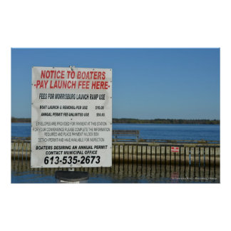 Boat Launch St. Lawrence River - Morrisburg Poster