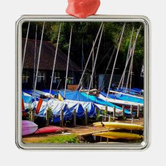Boat life Silver-Colored square decoration