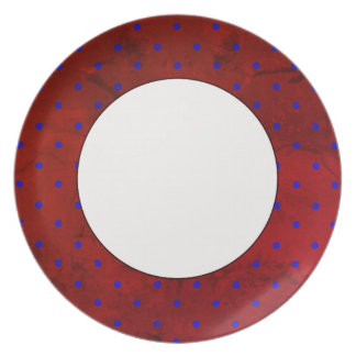Boat Mahogany(c) Wood Look & Dots_ Plate