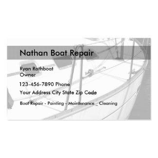 Boat Maintenance And Repair Pack Of Standard Business Cards