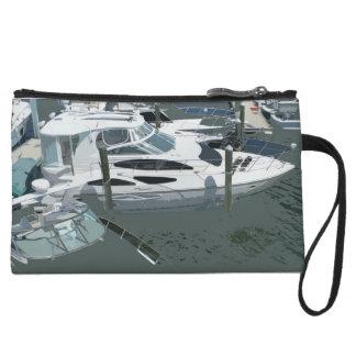 Boat Marina Mini Clutch Wristlet Clutch