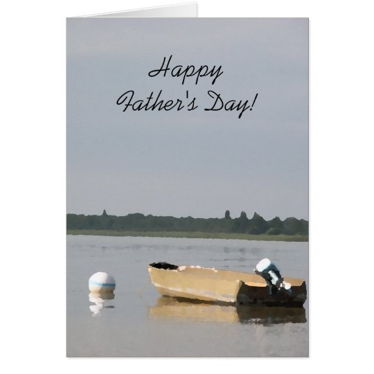 Boat on a Lake Fathers Day Card