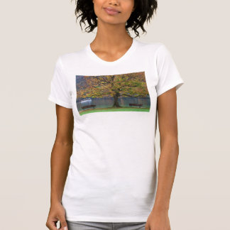 Boat on a lake in fall, Germany T-Shirt