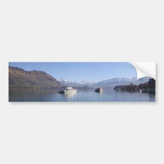 Boat on Lake Bumper Sticker