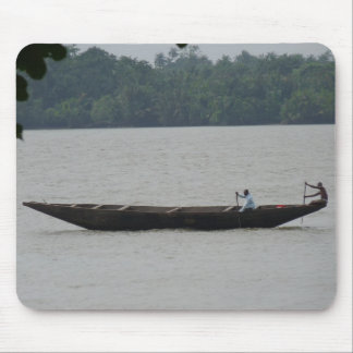 Boat on River Mouse Mat