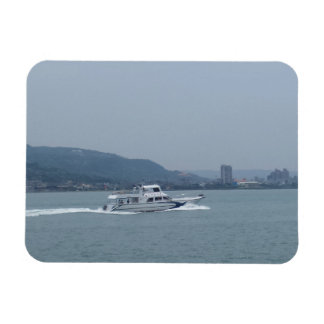"Boat on Tamsui River Taiwan 3""x4"" Magnet"
