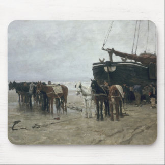 Boat on the Beach at Scheveningen, 1876 Mouse Pad