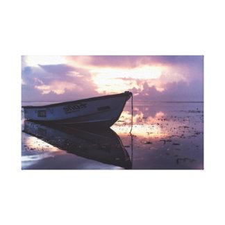 Boat on the Beach   Ocean   Shoreline Canvas Print