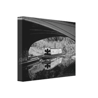 Boat on the Black Country Canal, Dudley, England Canvas Print