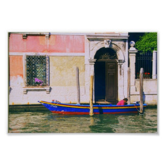 Boat on the Grand Canal Venice Italy Print Poster